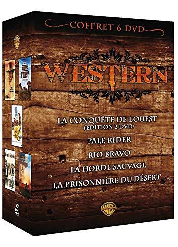 Coffret western : la conquete de l'ouest ; pale rider ; rio bravo ; la horde sauvage ; la priosonniere du desert