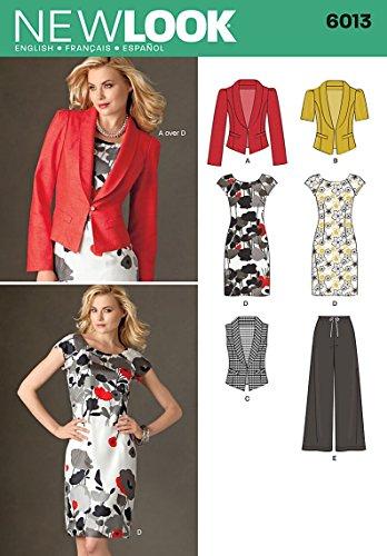 New Look Schnittmuster 6013 A für Damenbekleidung, Gr. 34-46