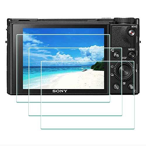 DSC-RX100M7 Protector de Pantalla para Cámara Digital Sony RX100 VII,ULBTER 0,3 mm Dureza 9H Vidrio Templado Antiarañazos Antihuellas Antiburbujas Antipolvo, 3 Unidades