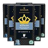 Gevalia Nespresso Compatible Capsules, Allure Espresso Pods for Nespresso OriginalLine Brewer, 10 ct. Box (Pack of 6), 0.767 Pound (Pack of 1)