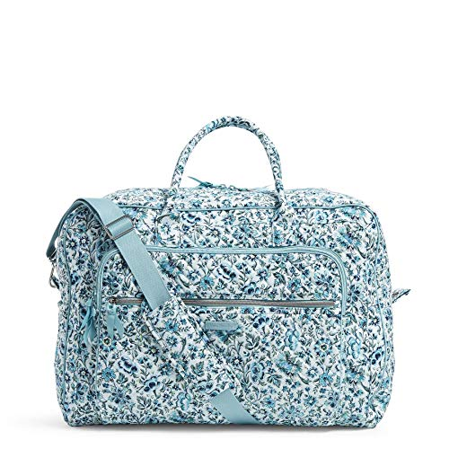 Great Deal! Vera Bradley Signature Cotton Grand Weekender Travel Bag, Cloud Vine