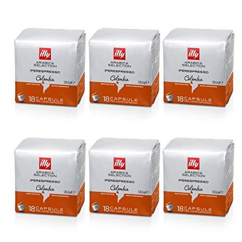 ILLY 6 pacchi da 18 capsule Arabica Selection Colombia (108 CAPSULE)
