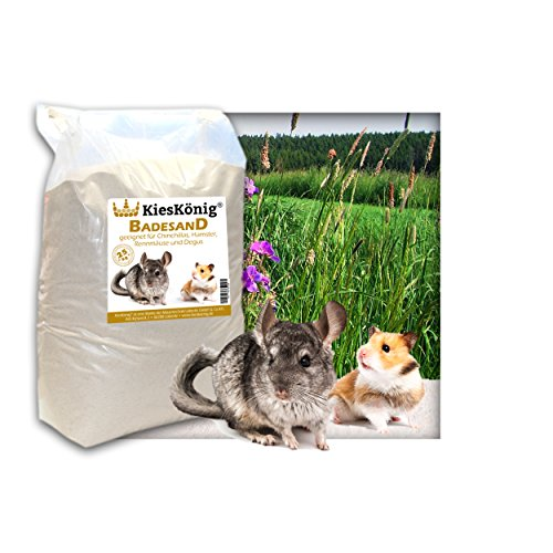 25 kg Premium Chinchilla Badesand Chinchillasand - Made in Germany - samtweiche abgerundete Körnung