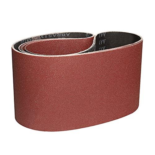 Sruhrak Bandas de Lija 150 x 1220 mm - 1 de Cada Uno de Granos 60/80/120/180/240/400 Lijado Correas Para Lijadora de Banda (6 UNIDADES)