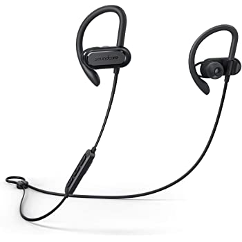 Wireless Bluetooth Headphones, Soundcore Spirit X Sports Earphones by Anker, Bluetooth 5.0, 12-Hour Battery, IPX7 Wireless Earbuds, Noise Isolation, SweatGuard Technology for Workout