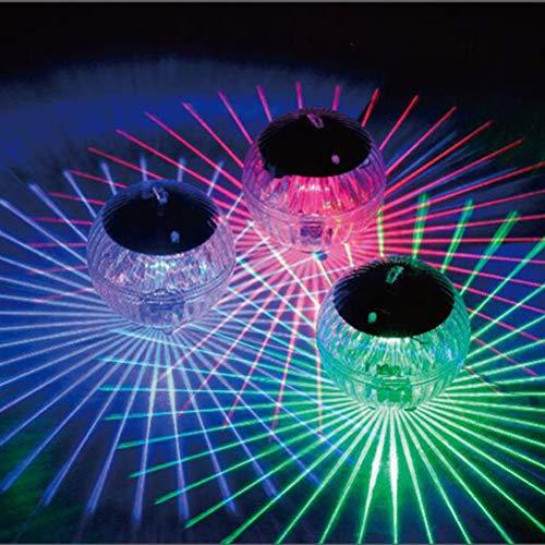 Uonlytech Solar Schwimmendes Licht, Farbwechsel Magic Ball Solar Pool Licht, Solar Teich Licht für Schwimmbad Teich (Buntes Licht)