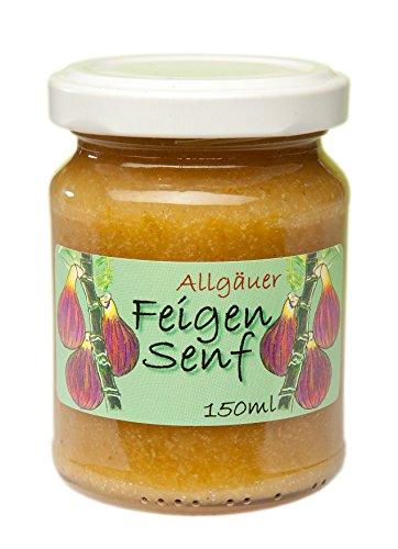 Feigen Senf aus dem Allgäu | 145g süßer Feinkost Senf für Käse