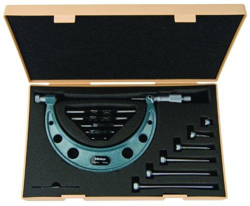 Mitutoyo 104-143A - Micrómetro exterior (4 yunques intercambiables y 4 estándares, 400 mm - 500 mm, graduación de 0,01 mm)