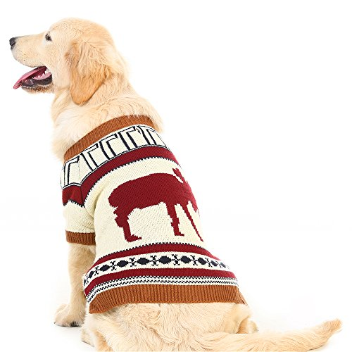 PUPTECK Reindeer Dog Sweater Pet Holiday Festive...
