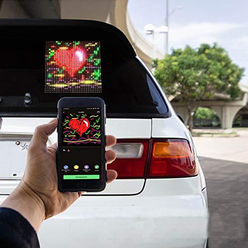 LED Innenbeleuchtung Auto-LED-Anzeigeschild, Bluetooth-Verbindung, Handysteuerung Programmierbarer LED-Anzeigebildschirm Für AutosDrinnen Draußen