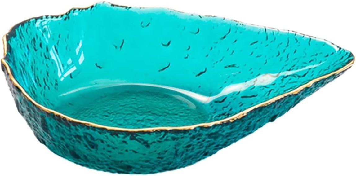 Finally Max 49% OFF resale start Glass Salad Bowl Creative Fruit Rim Golden