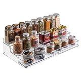 mDesign Especiero extensible de plástico – Estante para especias y...