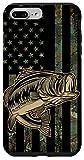 iPhone 7 Plus/8 Plus Bass Fishing Gift Fishing Fisherman Camo Flag Camouflage Case