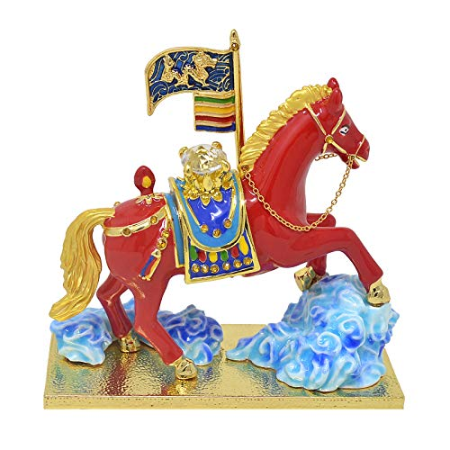 Feng Shui Victorious Horse Statue - Red Windhorse...