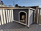 A4Pet Waterproof Wooden Dog House Outdoor Used for Small Dog, 34' L X 22.5' W X 24' H