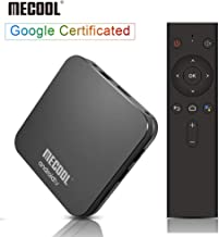 Android 9.0 TV Box, MECOOL KM9 PRO TV BOX with Google Certified, 4GB RAM 32GB ROM Quad Core Android Box Support Voice Remote, Chromecast, 3D Ultra HD 4K, Dual-Wifi 2.4G/5G(Support Netflix SD, Not HD)