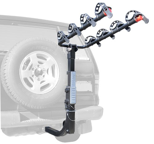 Allen Sports Premier Hitch Mounted 4-Bike Carrier for Vehicles with External Spare Tires