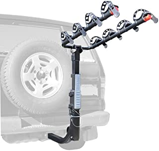 Allen Sports Premier Hitch Mounted 4-Bike Carrier for Vehicles with External Spare Tires, Model S645