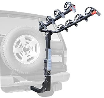 Allen Sports Premier Hitch Mounted 4-Bike Carrier for Vehicles with External Spare Tires Model S645