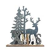 HROIJSL Weihnachten Deko Hölzerne Elchweihnachts Dekoration Weihnachten Weihnachtsmann aus Holz Elch Schneemann Festival Ornament Home Decor