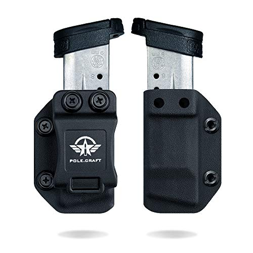 S&W M&P Shield 9mm/.40 Single Stack Magazine Holster IWB/OWB Kydex - 9mm/.40 Mag Carrier - Custom fit: M&P Shield 9mm/.40 Single Stack Magazines Case Pouch - Universal OWB / IWB / Right / Left Hand