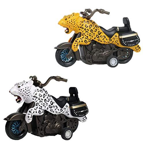 Toddmomy 2 Stück Tier Spielzeug Autos Reibung Angetrieben Motorrad Dino Spielzeug Auto Spielzeug für Kinder Jungen Mädchen Geburtstagsgeschenke