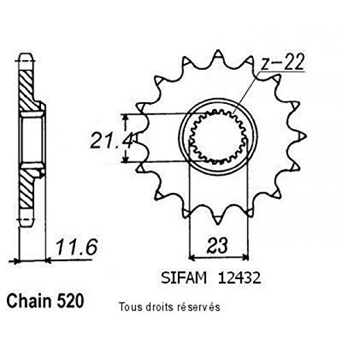 Pignon 250 Ttr 93-04