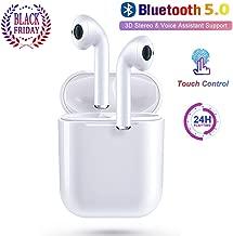 Bluetooth Headset, IPX6 Waterproof Bluetooth 5.0 True...
