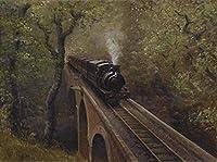 番号によるDiyペイント大人と子供デジタルカラーヴィンテージ蒸気機関車スプレーペイントキットデジタル油絵