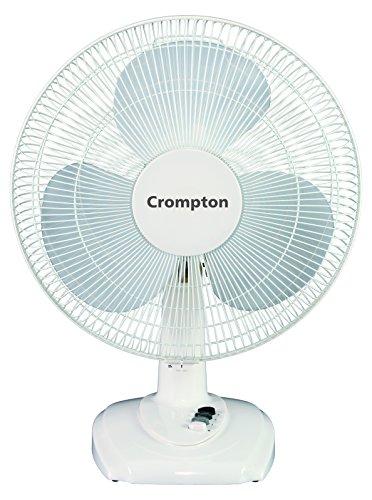 Crompton Hiflo Eva 16-inch Table Fan (White), Off-White (HiFlo...