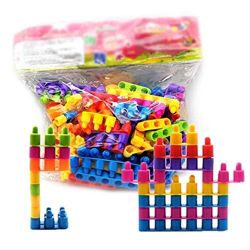 Detazhi Bloque de Madera Bloques de construcción Coloridos para niños Conjunto Juguetes educativos para niños y niñas Adecuado para niños Mayores de 3 años (Color: Multicolor) (Color : Multicolored)