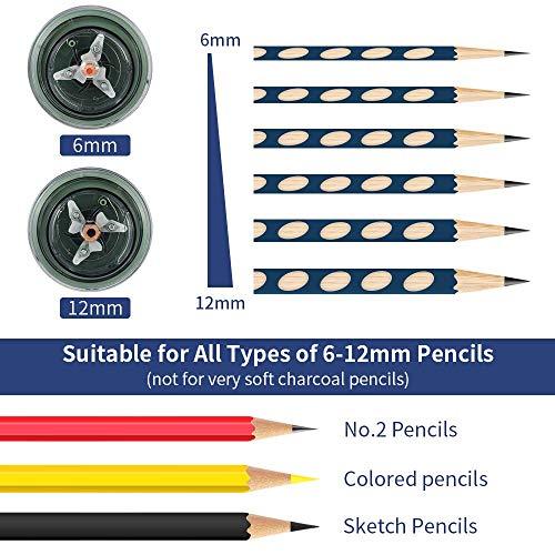 AFMAT Electric Pencil Sharpener, Pencil Sharpener for Colored Pencils, Auto Stop, Super Sharp & Fast, Electric Pencil Sharpener Plug in for 6-12mm No.2/Colored Pencils/Office/Home-Green Photo #6