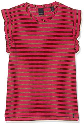 Scotch & Soda R´Belle Striped Tee with Ruffle Sleeve T-Shirt, ((Combo B 22), 140 (Taglia Produttore: 10) Bambina