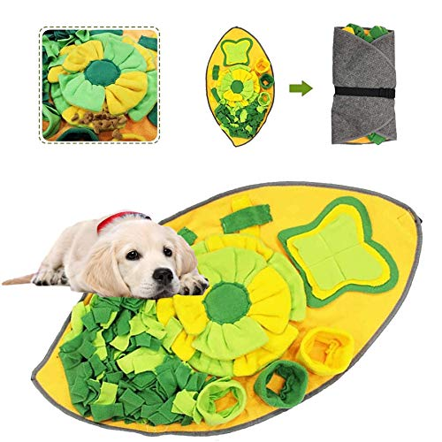 Sunshine smile Alfombra olfativa Perros,Snuffle Mat para Perros,Pet Nariz Trabajo Mat,Alfombrilla de Entrenamiento Interactivo para Perros,Alfombra de Actividades para Mascotas,Dog Snuffle Mat… (C)