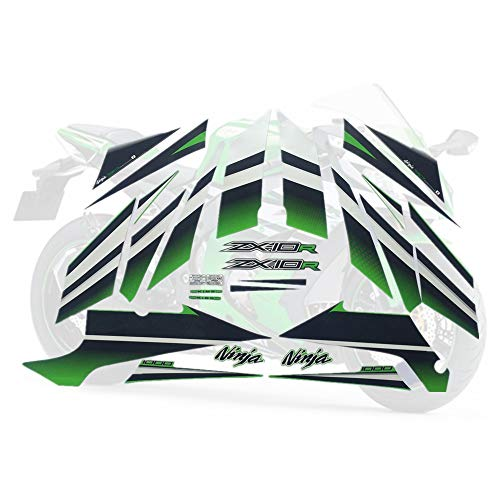 Para Kawasaki Ninja ZX10R Pegatina ZX 10R 2015 Kit completo Calcomanía Protector de motocicletas de alta calidad Racing 30th Protector decorativo (Color : Style 2)