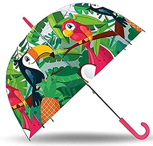 Kid Licensing Paraguas Transparente Campana 19'' Manual Tucan, Juventud Unisex, Multicolor, Talla Única