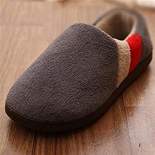 W&XY Les Pantoufles de Coton d'hommes d'hiver choisissent Le Paquet de Pantoufles de Chambre avec des Bottes d'intérieur, ...