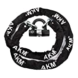 AKM Security Bike Chain Lock Heavy Duty Bicycle Lock Bike Disc Lock with 16mm U Lock,Motorbike Lock Black (6.56)