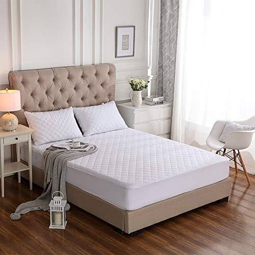 BEDDIANTAO waterdichte matrasbeschermer dekbedovertrek geborsteld stof gewatteerde matrasbeschermer waterdichte matras topper voor bed anti-mijt matrashoes