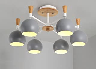 GRY Nordic Fashion Simple Wood Light Ceiling Light Lámpara de Techo Chandelier Light para Dormitorio, Cocina, Living, Corredor, Balcón