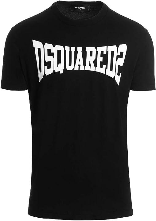Maglietta dsquared2 t-shirt uomo nero logo estate 2020 B0893ZNPJ4