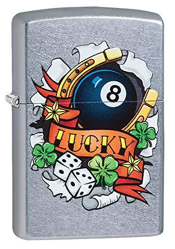 Zippo Unisex's Lucy Tattoo Sturmfeuerzeug, Street Chrome, Einheitsgröße