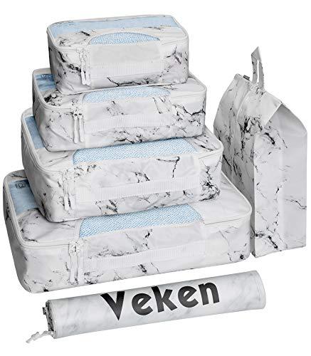 Veken Packing Cubes (White Marble)