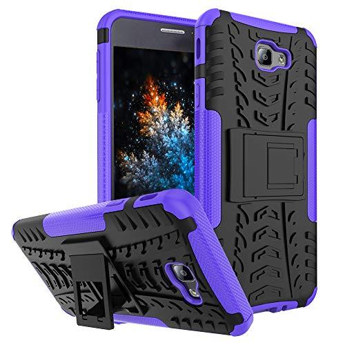 MRSTER Samsung J7 Prime Hülle, Outdoor Hard Cover Heavy Duty Dual Layer Armor Case Stoßfest Schutzhülle mit Ständer Handyhülle für Samsung Galaxy J7 Prime / On7 (2016). Hyun Purple