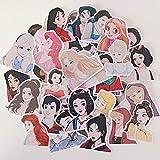 XIAMU Cuenta de la Mano Personalidad Creativa Diario Álbum Etiqueta de Dibujos Animados Chica Linda Personaje Chica Corazón Decoración 40 Uds