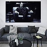 Vintage Plakat Leinwand Kunst Wandbild für Wohnzimmer Poster und schwarz und weiß rahmenlose...