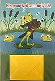 Geldkarte mit kleinem Geldumschlag ' Ein paar Kroeten fr Dich!' Froesche Geige Frosch