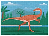 Puzzles for Adults- Coelophysis Prehistoric Dinosaur Jigsaw Puzzle,520 Piece Wooden Large Format Jigsaw Puzzle for Kids Adults