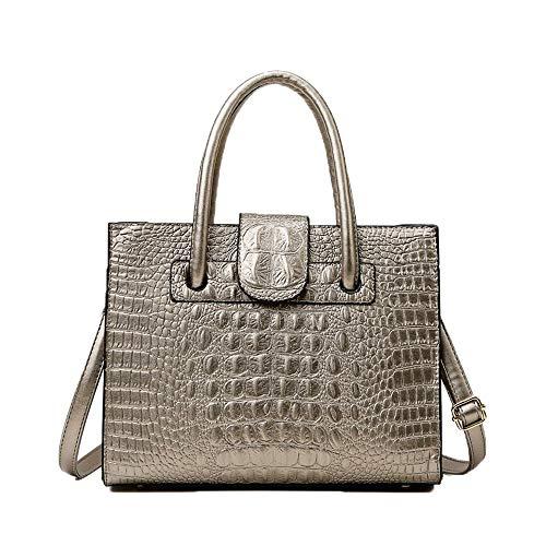 Crossbody Bags for Women High Capacity Alligator Pattern Leather Shoulder Bags Handbags Travel Tote Bag