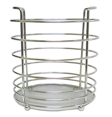 Homestyle Kitchen Utensil Holder Chrome Finish Compact Storage for All Your Gadgets - Stands ON Legs